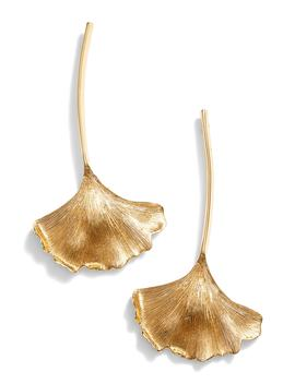 Ginkgo Leaf Drop Earrings by Oscar De La Renta