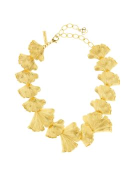 Ginko Leaf Necklace by Oscar De La Renta