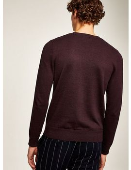 Burgundy Twist Hem Stitch Jumper by Topman