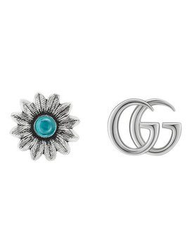 Gucci Marmont Silver Stud Earrings by Beaverbrooks