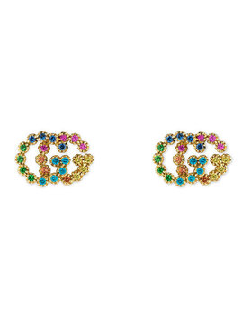 Gucci Double G 18ct Gold Multi Stone Earrings by Beaverbrooks