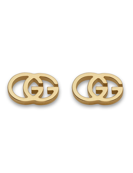 Gucci Double G 18ct Gold Stud Earrings by Beaverbrooks