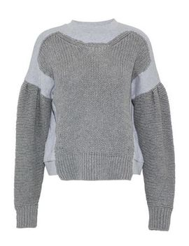 Knitted And Mélange Cotton Jersey Sweatshirt by Mc Q Alexander Mc Queen