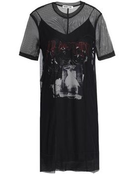 Layered Embroidered Tulle Mini Dress by Mc Q Alexander Mc Queen