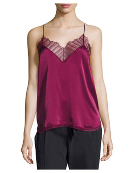 Berwyn Silk Camisole Top, Red by Iro