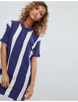 Pull&Bear Rugby Dress In Colourblock Blue by Pull&Bear