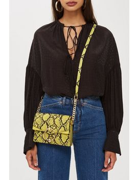 Selina Snake Effect Cross Body Bag by Topshop