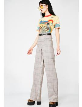 In Session Plaid Pants by Re Named