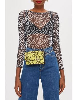 Beau Snake Effect Bumbag by Topshop