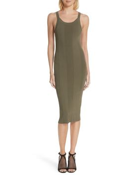 Strap Detail Body Con Dress by T By Alexander Wang