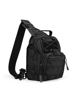 Pro Case Tactical Sling Bag Pack With Pistol Holster, Military Army Shoulder Bag Satchel Backpack Outdoor Range Bag Daypack Backpack For Hunting, Camping And Trekking by Pro Case