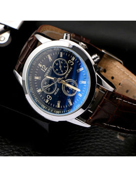 Military Leather Stainless Steel Quartz Analog Army Men's Cute Wrist Watches by Ebay Seller