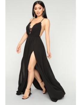 Off The Runway Maxi Dress   Black by Fashion Nova