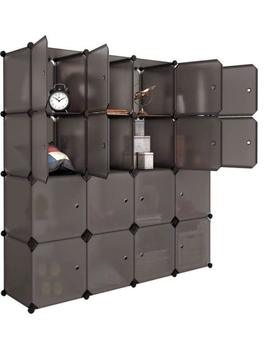 Langria 16 Cube Organizer Stackable Plastic Cube Storage Shelves Design Multifun by Ebay Seller