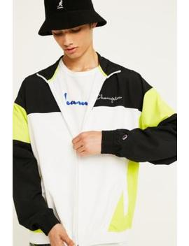 Champion Black And Lime Track Jacket by Champion