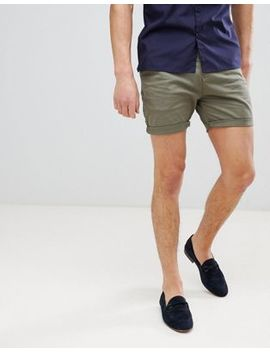 Process Black Peached Cotton Chino Shorts by Chino Shorts