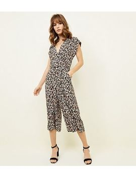 Brown Leopard Print Culotte Jumpsuit by New Look