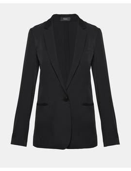 Silk Unstructured Blazer by Theory
