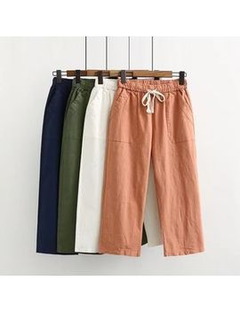 Plain Wide Leg Pants by Aigan