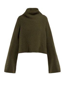 Ribbed Knit High Neck Sweater by Stella Mc Cartney