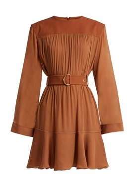 Mousseline Gathered Mini Dress by Chloé