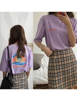 Elbow Sleeve Printed T Shirt by Cara Melody