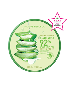 Soothing & Moisture Aloe Vera 92 Percents Soothing Gel by Nature Republic