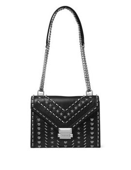 Whitney Studded Large Leather Shoulder Bag by Michael Michael Kors