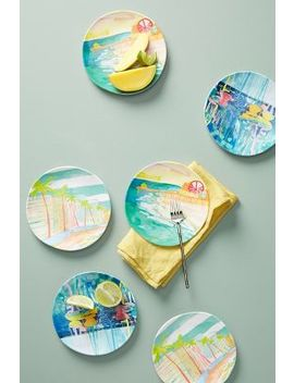 Sunscene Melamine Side Plate Set by Anthropologie