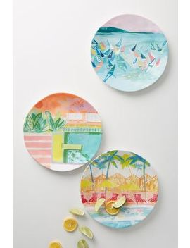 Sunscene Melamine Dinner Plate by Anthropologie