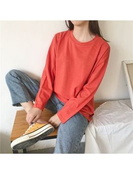 Plain Long Sleeve T Shirt by Lemonade