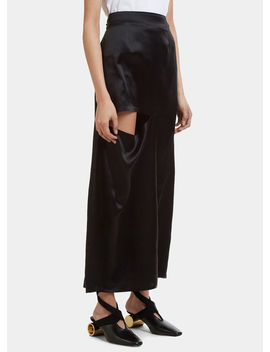 Straight Cut Out Silk Skirt In Black by Jw Anderson