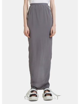 Pull On Pillar Skirt In Grey by Rick Owens