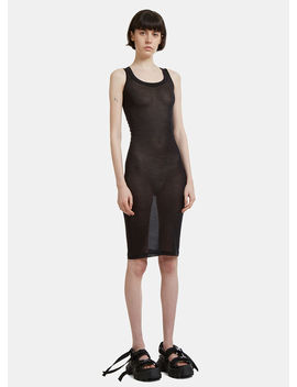 Membrane Dress In Black by Rick Owens