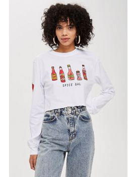 Spice Gal' Long Sleeve Cropped Top By Tee & Cake by Topshop