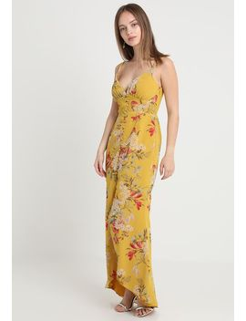 Open Back Button Thru Strappy Floral   Vestito Lungo by Hope & Ivy Petite