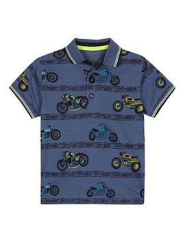 Bluezoo   Boys' Motorbike Print Polo Shirt by Bluezoo
