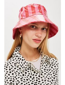 Stripe Bucket Hat by Topshop