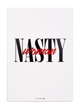 Nasty Women A3 Wall Print by Skinnydip