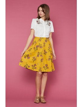 Flower And Bee Skirt by Dangerfield