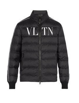 Vltn Print Quilted Down Jacket by Valentino