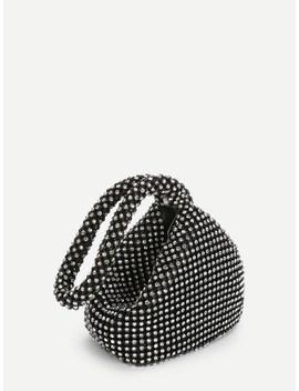 Rhinestone Decorated Shoulder Bag by Sheinside
