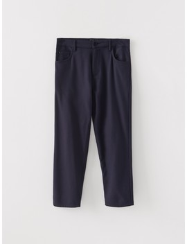 Re Design Navy Blue Trousers by Reserved