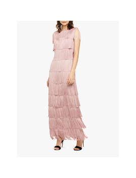 Phase Eight Fringe Maxi Dress, Pale Pink by Phase Eight