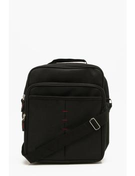 Oversized Stitch Detail Cross Body Flight Bag by Boohoo