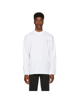 White Sweats Funnel Neck T Shirt by Martine Rose