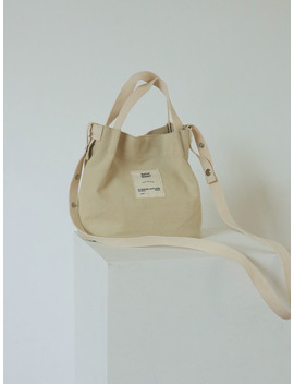 Patch Accent Shoulder Adjustable Strap Bag by Stylenanda
