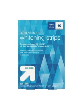 Ultra Vibrant Whitening Strips  10 Day Treatment   Up&Up™ (Compare To Crest 3 D White No Slip Whitestrips Classic Vivid) by Shop All Up & Up™