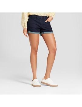 Women's Mid Rise Midi Jean Shorts   Universal Thread™ Dark Wash by Shop All Universal Thread™