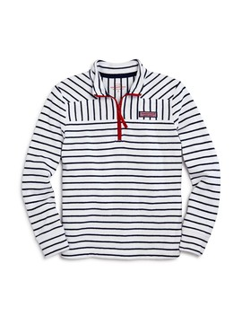 Girls' Contrast Striped Shep Shirt   Little Kid, Big Kid by Vineyard Vines